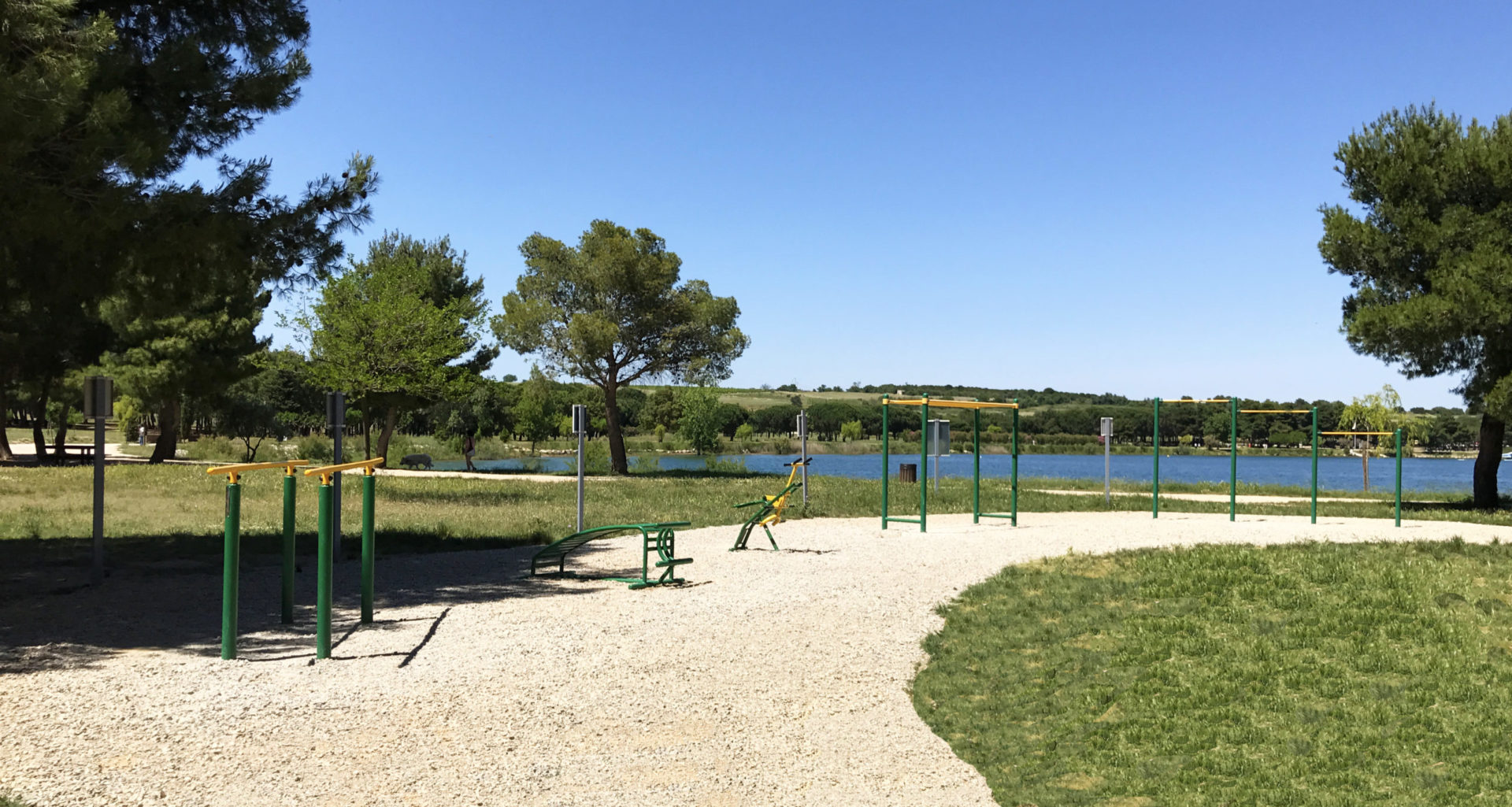 parcours fitness au lac