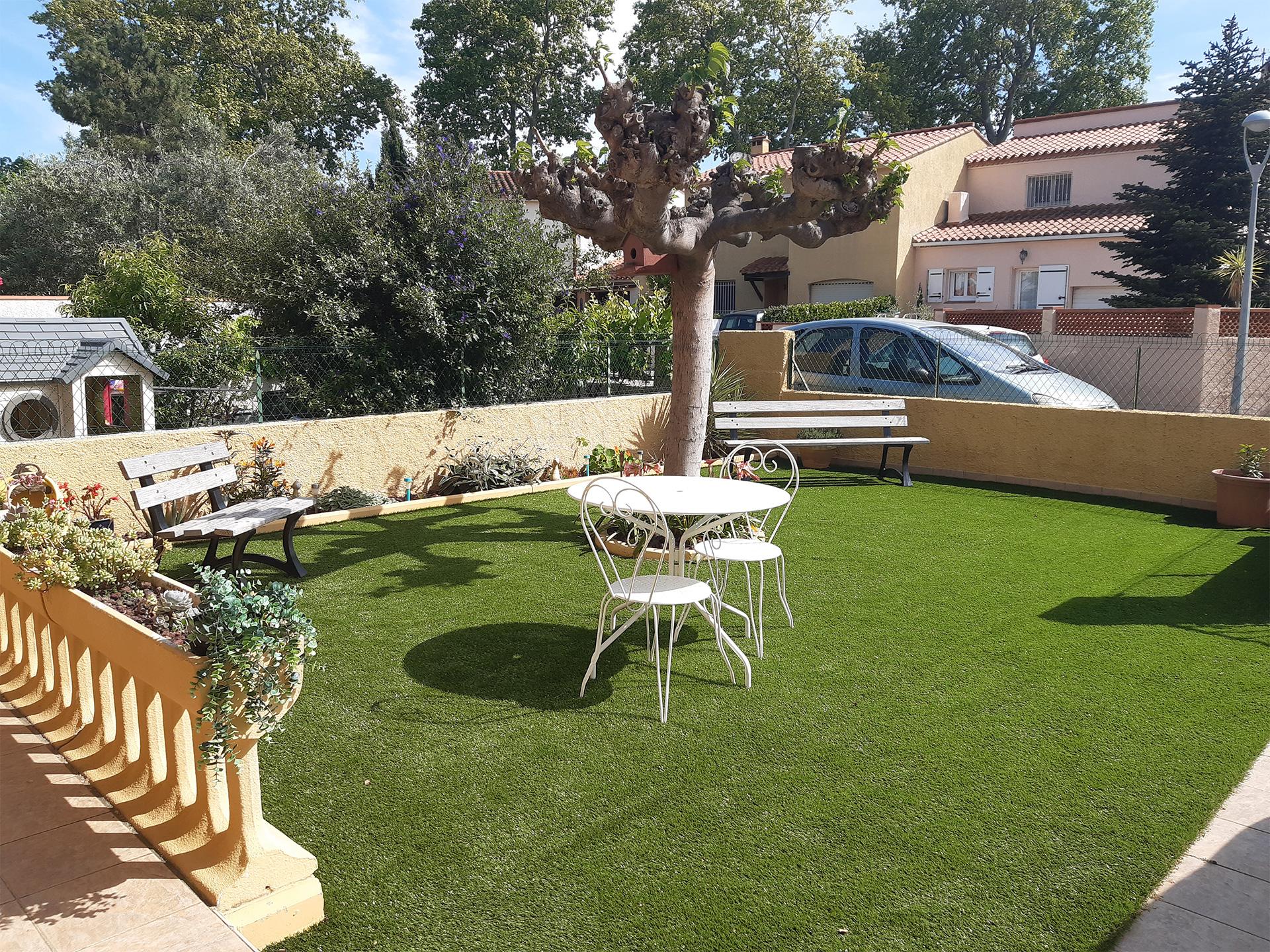jardin table blanche